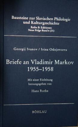 Письма Г.В. Иванова и И. В. Одоевцевой В.Ф. Маркову (1955-1958)
